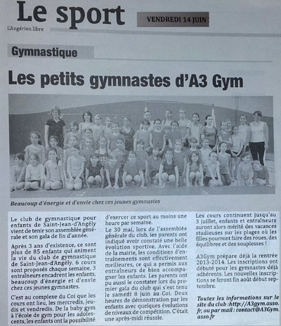 Article - angerien libre - 14 juin 2013