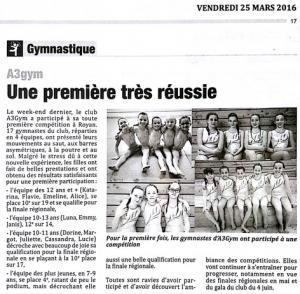 Article - Angérien libre - 25 mars 2016 - compétition